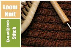 LOOM KNITTING STITCHES Bamboo Stitch Pattern