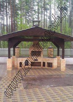 Backyard Fireplace, Backyard Patio, Backyard Landscaping, Outdoor Grill Station, Outdoor Kitchen Plans, Outdoor Barbeque, Mud House, Garden Deco, Garden Sofa