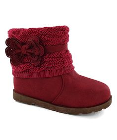 Look at this #zulilyfind! Lucky Top Red Canna Flower Boot by Lucky Top #zulilyfinds