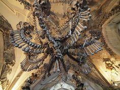 Skull Chandelier from the Sedlec Ossuary (Bone Church)