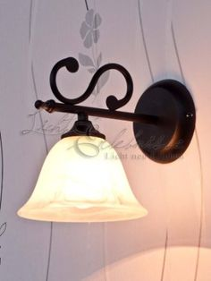 Applique Lampe Luminaire Murale Intérieur Style Maison de Champagne Noir Mat / Verre Albâtre 7771n: Amazon.fr: Luminaires et Eclairage // NO