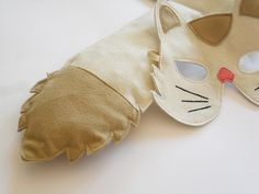 Cat Mask and Tail for Children, Kids Animal Costume, Eco Friendly Dress up and Pretend Play Toy for Girls Boys and Toddlers for Carnival. €23,00, via Etsy.
