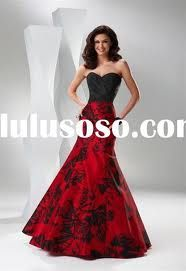 Red And Black Bridesmaid Dresses Google Search Evening Pageant Wedding Party