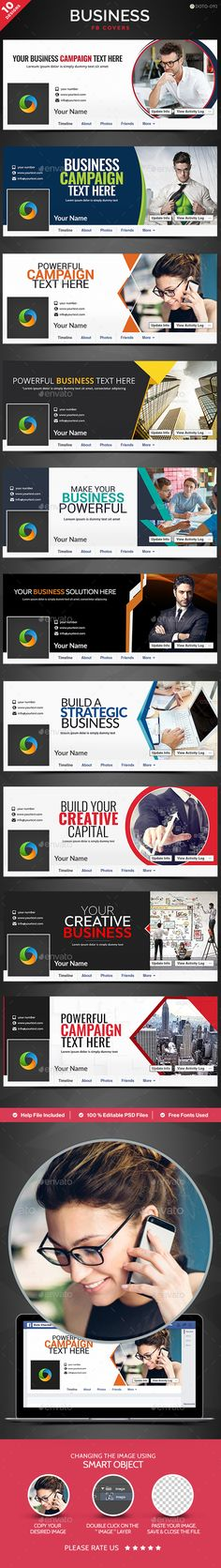 Business Facebook Covers - 10 Designs