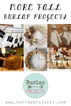More Fall DIY Burlap Projects
