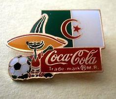 Algeria - 1984 Coca-Cola World Cup Soccer (Pique Mascot) Pin Football Pin  | eBay