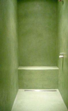 Zielona kabina prysznicowa
