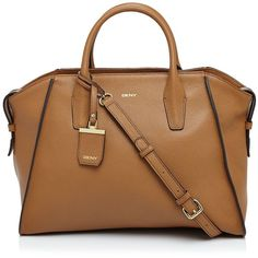 Dkny Large Chelsea Vintage Leather Satchel ($425) ❤ liked on Polyvore featuring bags, handbags, dark camel, dkny, satchel handbags, dkny purses, brown satchel purse and brown satchel handbag