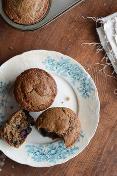 These gluten free blueberry buckwheat muffins are pretty tasty..might cut the sugar by 1/4 cup if you find them a bit sweet.  Tastes like a good blueberry bran muffin.