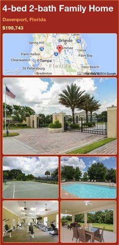 4-bed 2-bath Family Home in Davenport, Florida ►$199,743 #PropertyForSale #RealEstate #Florida http://florida-magic.com/properties/79964-family-home-for-sale-in-davenport-florida-with-4-bedroom-2-bathroom