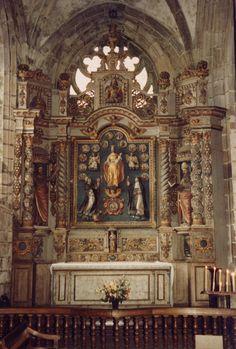 Locronan, Bretagne, Finistère, Cornouaille, Église St.-Ronan, rosary altar