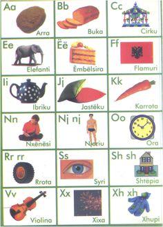Albanian Alphabet page 1.