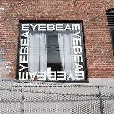 In the years leading up to their anniversary, Eyebeam had grown from a space for artistic experimentation to a multidisciplinary nonprofit that pioneers social justice through the intersection of art and technology. Today, Eyebeam facilitates a flags… Window Signage, Window Graphics, Signage Design, Art And Technology, Window Design, Store Design, Visual Identity, Typography, Branding
