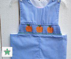Smocked Pumpkin Longall Smocked Longall Smocked Boys by SmockStar