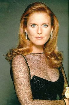 The Queen's ex-daughter-in-law, Sarah Ferguson, the Duchess of York. Great photo of her.