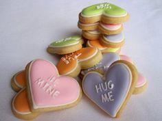 cute heart cookies