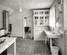Awesome vintage kitchen photos...Laurelhurst Craftsman Bungalow: Period Kitchen Photographs