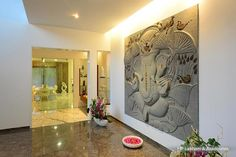 Interior Design by HP Lakhani & Associates, Hyderabad. Browse the largest collection of interior design photos designed by the finest interior designers in India. Indian Home Decor, Stairs Design, Decor, Interior And Exterior, Entrance Design, Indian Home Design, Foyer Design, Traditional House, Home Decor
