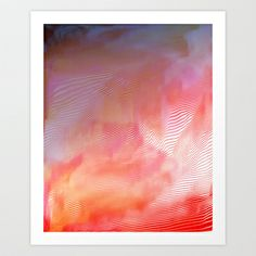 Sundown reflection Art Print by Okti - $17.00