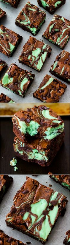 Swirly, twirly, fudgy, minty, cheesecake goodness. I love these decadent mint…