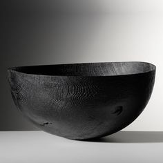 Friedemann Bühler Bowl, blackened oak, brushed, sandblasted 55,5 x 57 cm ↕ 27 cm
