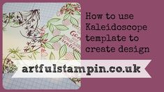 {How to use template for stamping with the Stamparatus} - YouTube