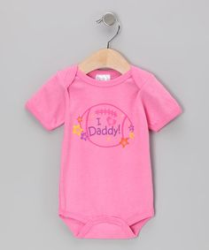 Take a look at this Pink 'I Heart Daddy' Bodysuit by Mon Cheri Baby on #zulily today!