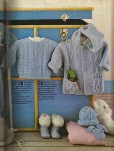 RECEITA TRICÔ FÁCIL   Receita Revista Mon Tricot nº 91   Os assessórios essenciais para um bebê que anda na moda :capuz e luva (de um dedi...