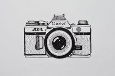 Camera  Drawing Illustration Canon Analogue Marleen Annema Minerva