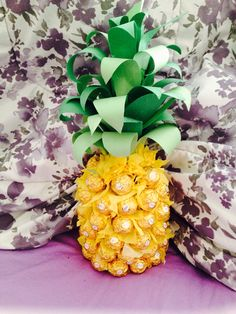 Pineapple( bottle of wine disguised with chocolate)