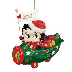 Photos of Christmas Betty Boop assecories   2013 Annual Betty Boop Ornament - The Danbury Mint