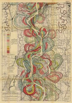 - interesting-maps:  Map of the ancient courses of the Mississippi...