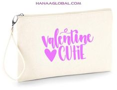 Cute Designs, Jute, Valentine Gifts, Gifts For Women, Celebrations, Unique Gifts, Pouch, Zip, Canvas