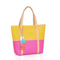 N-pai stile coreano Candy Contrast da donna di colore Tote / Un sacchetto di spalla – EUR € 4.12