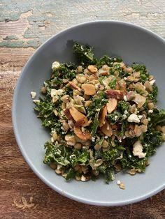 Kale Salad Recipes, Lentil Recipes, Bean Recipes, Lunch Recipes, Healthy Recipes, French Lentils, Olive Recipes, Lentil Salad, Indian Food Recipes
