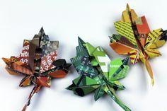 Origami Leaves! #momentinnature <3