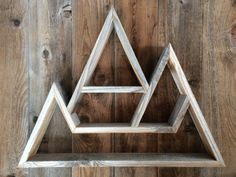 Triple Peak Mountain Shelf by needleandpineshop on Etsy