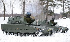 Assume this is some type of Command & Control Vehicle but I'm not sure. What is the mast opposite the machine gun. Swedish Armed Forces, Swedish Army, C Ops, Armored Truck, Future Weapons, Armored Fighting Vehicle, Panzer, Armored Vehicles, War Machine
