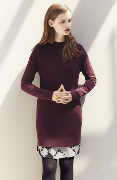 Style inspiration: layer a knit tunic over pencil skirt, belted at waist, for office chic. (Can also wear with leggings or skinny pants, boots of any height, and faux fur vest for leisure.)