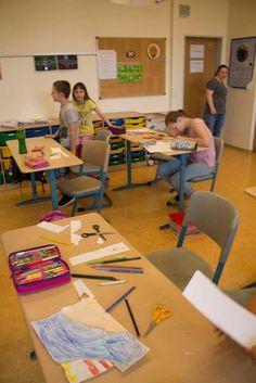 Ostseekinder malen ihr großes Bild   Schnappschüsse vom Malen mit den Ostseekindern (c) Frank Koebsch (1)