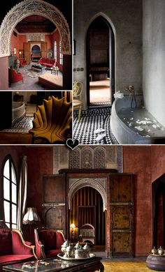 Moroccan Style- looks like a palace . I doubt I will ever have this but a girl can dream :)