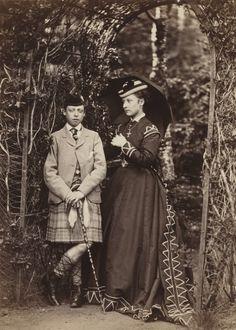 Prince Leopold, Duke of Albany; Princess Louise Caroline Alberta, Duchess of Argyll  by W. & D. Downey  albumen print, 1868 (571×800)
