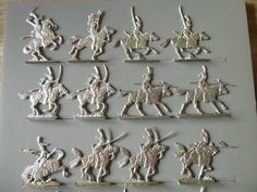 17 PLATS D ETAIN BRUT FIGURINES SEGOM = COLBERT & LANCIERS DE LA GARDE WATERLOO   Jouets et jeux, Petits soldats   eBay!