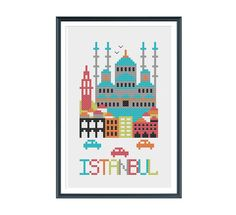 Istanbul Cross Stitch Pattern Instant Download by tinymodernist, $5.00