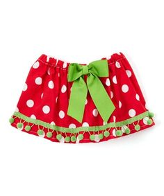 Another great find on #zulily! Red Polka Dot Bow-Accent Skirt - Infant & Toddler #zulilyfinds