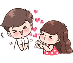 Boobib lovely couple 5 (Indo) – LINE stickers Cute Chibi Couple, Love Cartoon Couple, Cute Love Cartoons, Cute Couple Art, Cute Couples, Cute Love Pictures, Cute Cartoon Pictures, Cartoon Cartoon, Cute Couple Drawings
