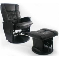 Love N Care Elite Glider Chair U0026 Ottoman   Black
