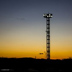 Twilight and a tower