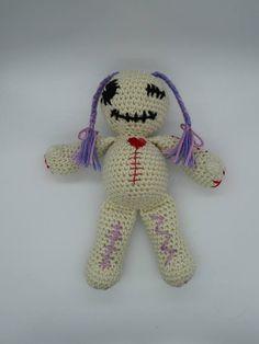 Voodoo Doll Amigurumi Voodoo Doll Crochet Voodoo Doll Girl