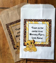 Candy Bags Lion King Bags Lion King Party by WrapupthePartyShop